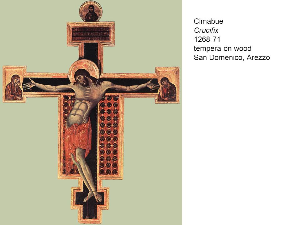 Cimabue Crucifix 1268-71 tempera on wood San Domenico, Arezzo