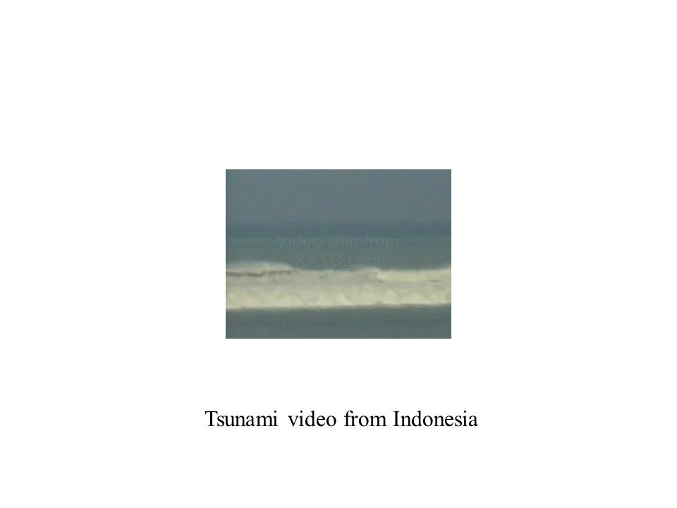 Tsunami video from Indonesia