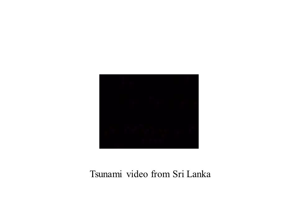 Tsunami video from Sri Lanka