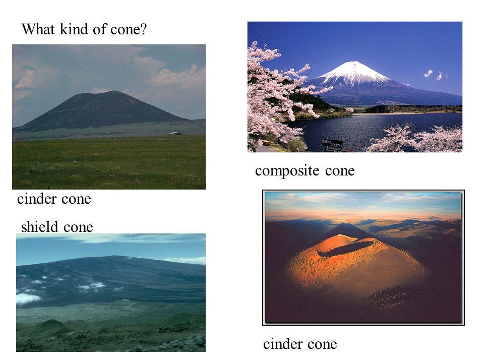 What kind of cone? cinder cone composite cone shield cone
