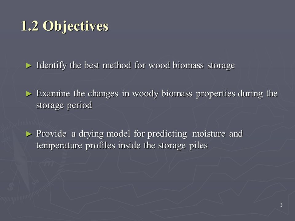 24 Cont…  In general the storage of biomass in bundles can reduce the moisture contents and loss of calorific value.