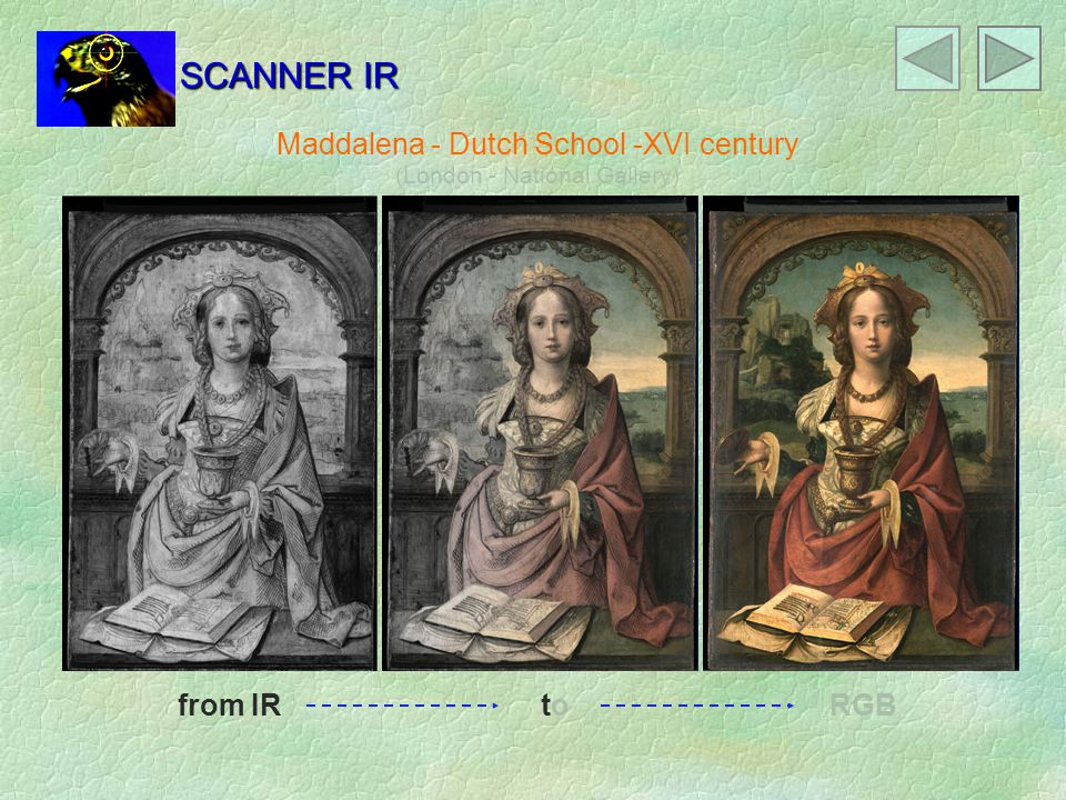 Maddalena - Dutch School -XVI century (London - National Gallery) from IR RGB SCANNER IR toto
