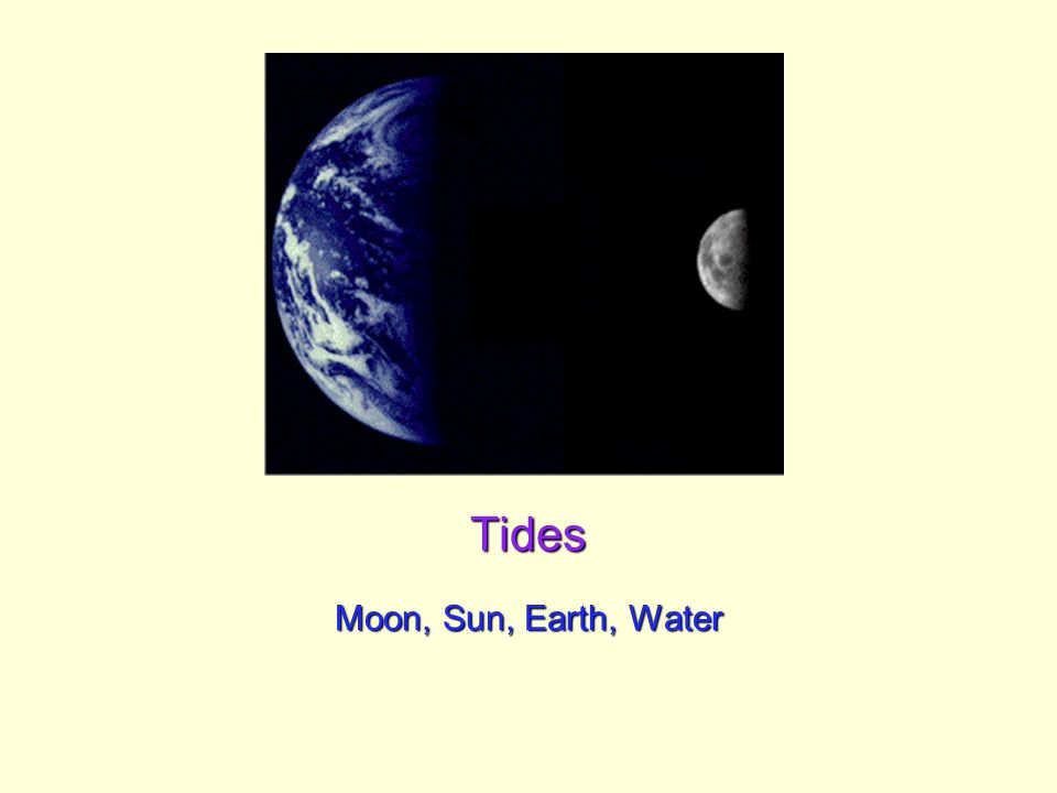 Tides Moon, Sun, Earth, Water