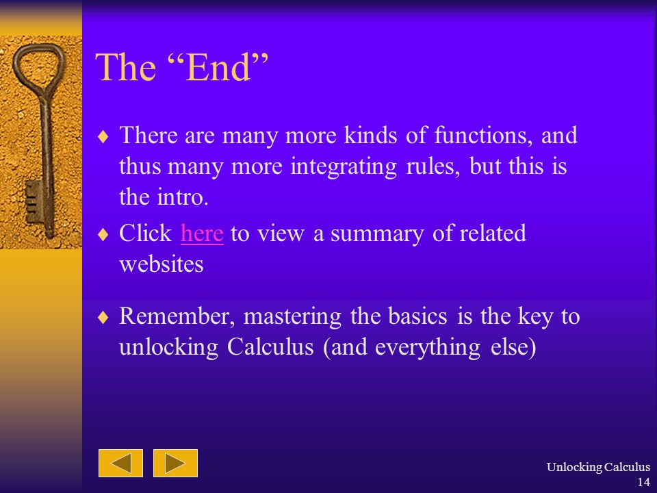 Unlocking Calculus 13 Example  Don't forget the previous lessons, they're important now!