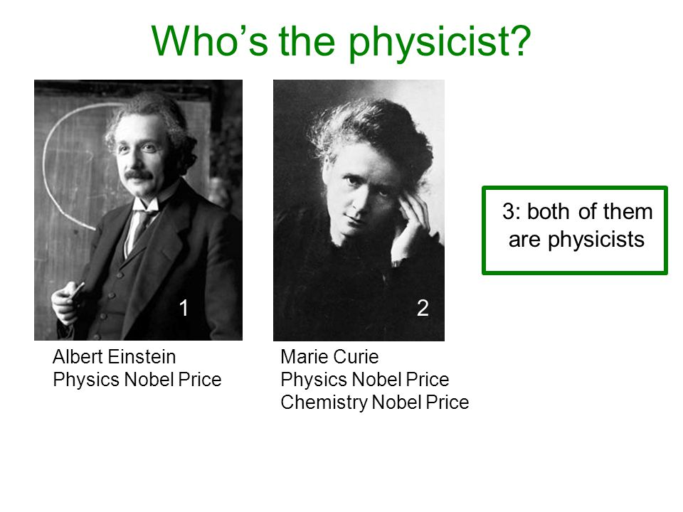 Who's the physicist.