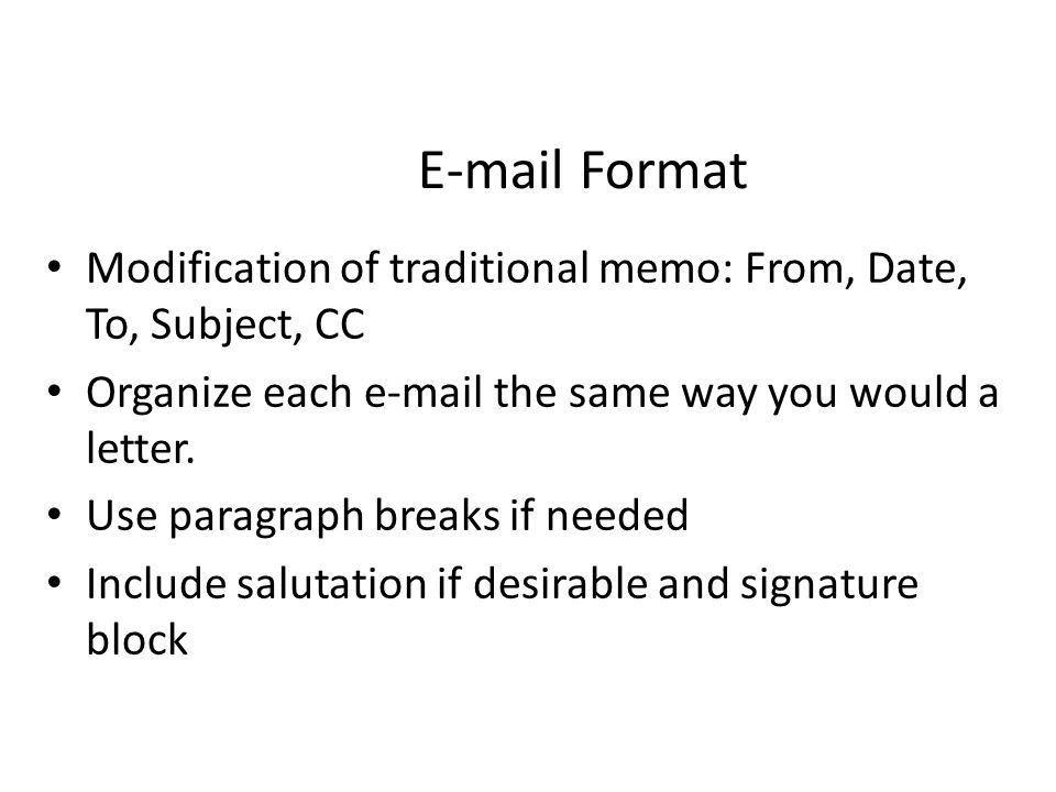 Letter Format General – 1 To 1-1/2 Inch Margins – Centered On Page