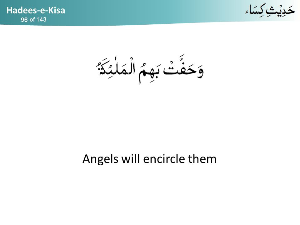 Hadees-e-Kisa of 143 Angels will encircle them 96