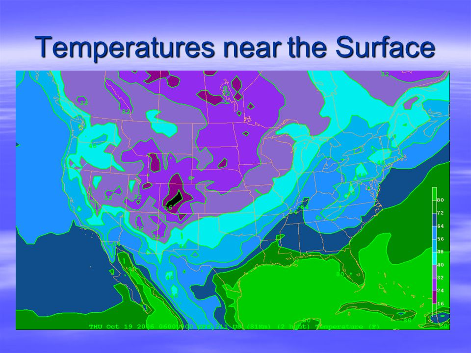 Temperatures near the Surface