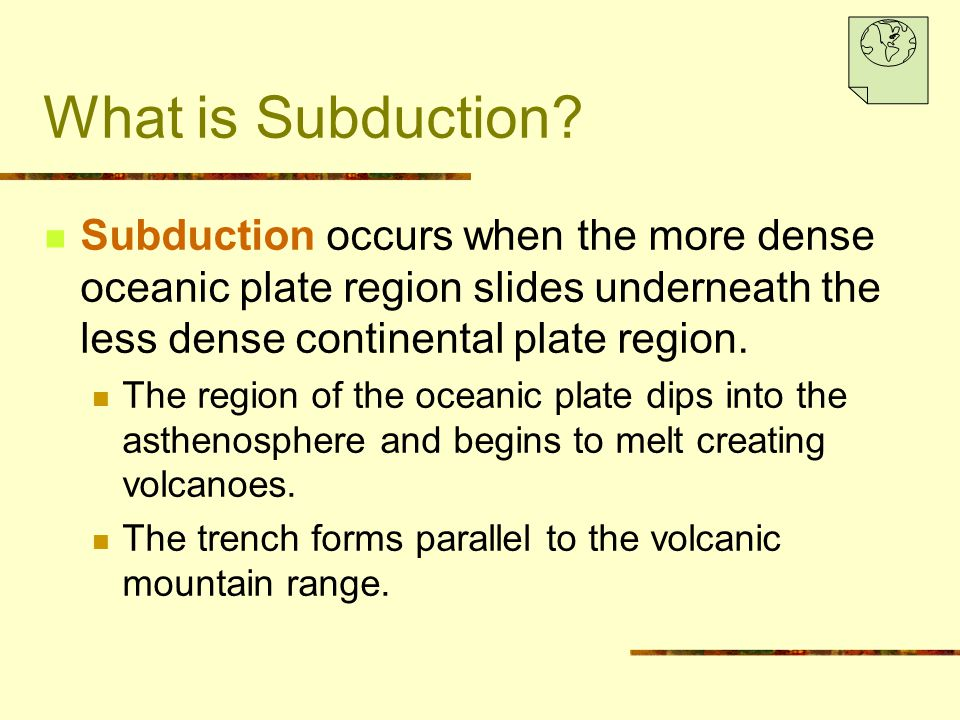 What is Subduction.