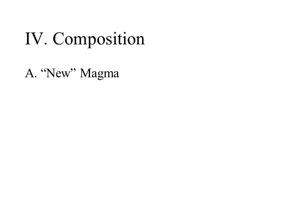 IV. Composition A. New Magma
