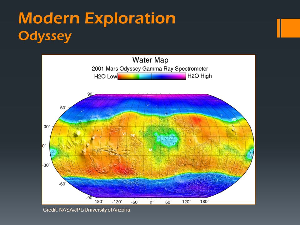 Modern Exploration Odyssey Credit: NASA/JPL/University of Arizona