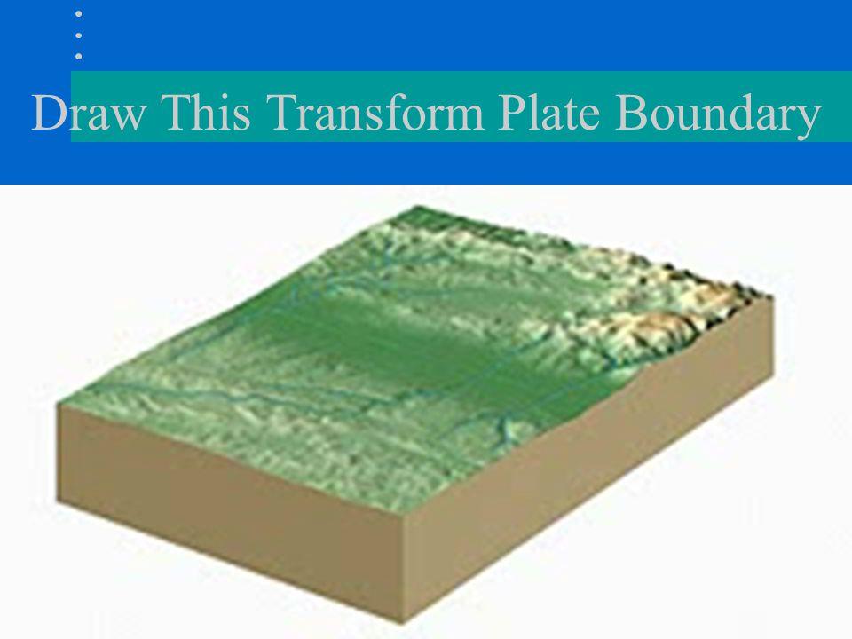 Draw This Transform Plate Boundary