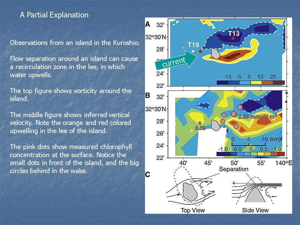 A Partial Explanation Observations from an island in the Kuroshio.