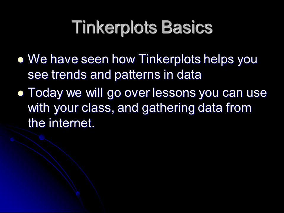 Tinkerplots Basics How many need a quick Tinkerplot refresher.