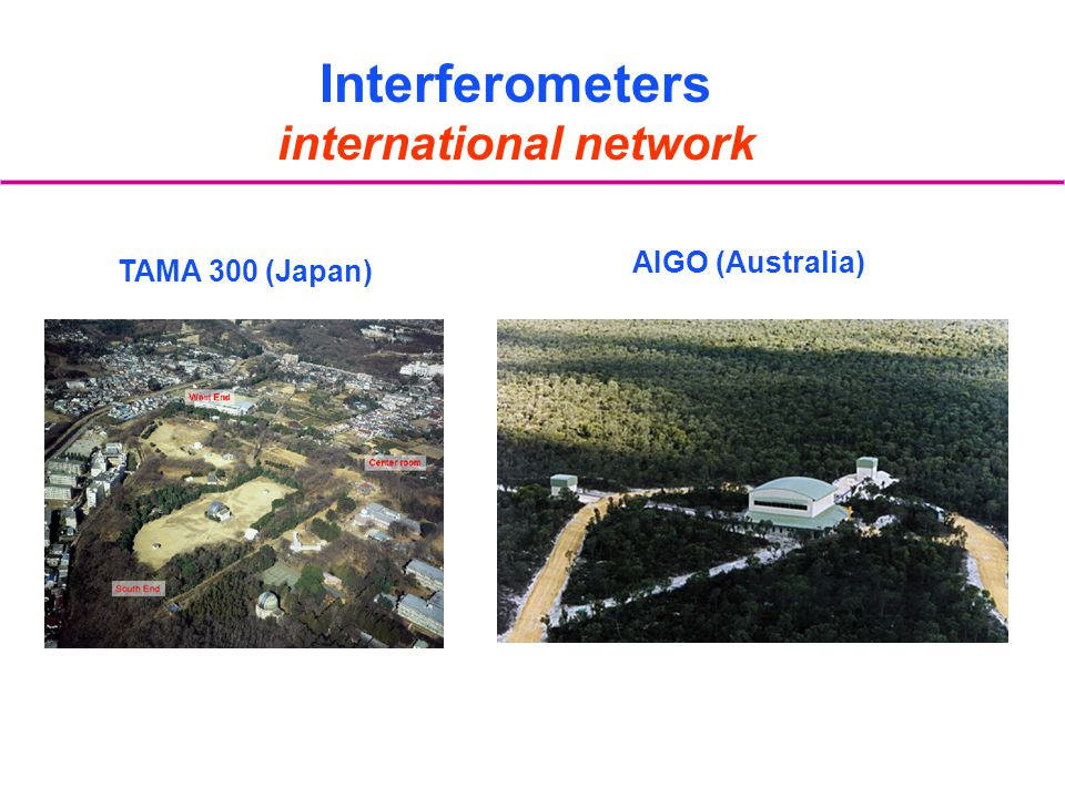TAMA 300 (Japan) AIGO (Australia) Interferometers international network
