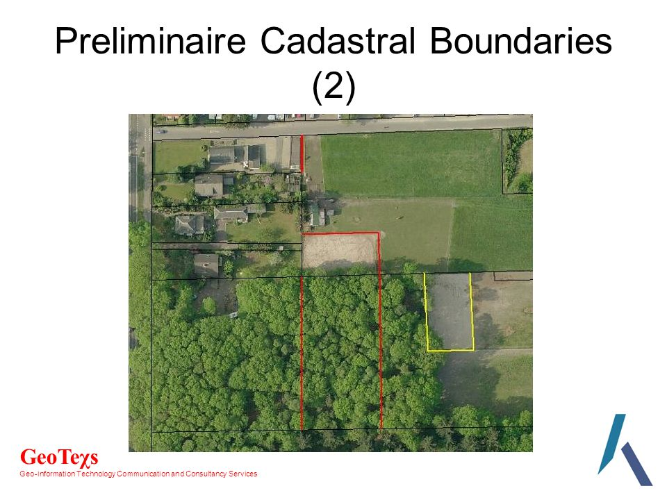 GeoTeχs Geo-information Technology Communication and Consultancy Services Preliminaire Cadastral Boundaries (2)