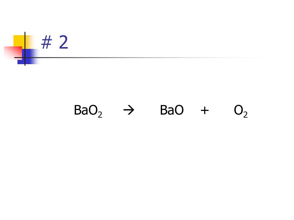 Warmups # 1 and 2 Try to balance this one. Al 2 O 3  Al + O 2