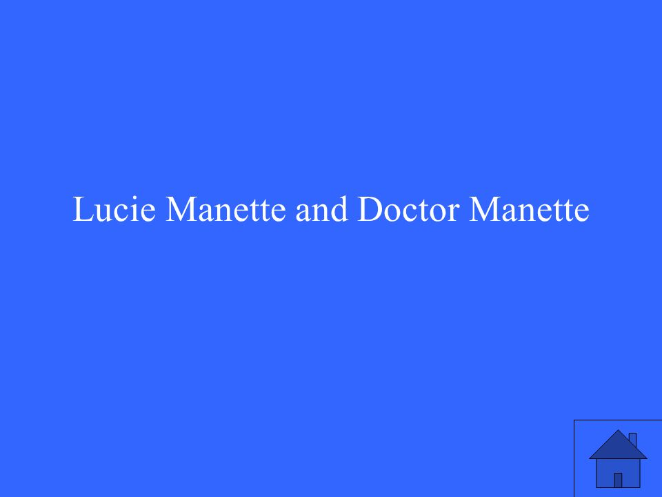 Lucie Manette and Doctor Manette