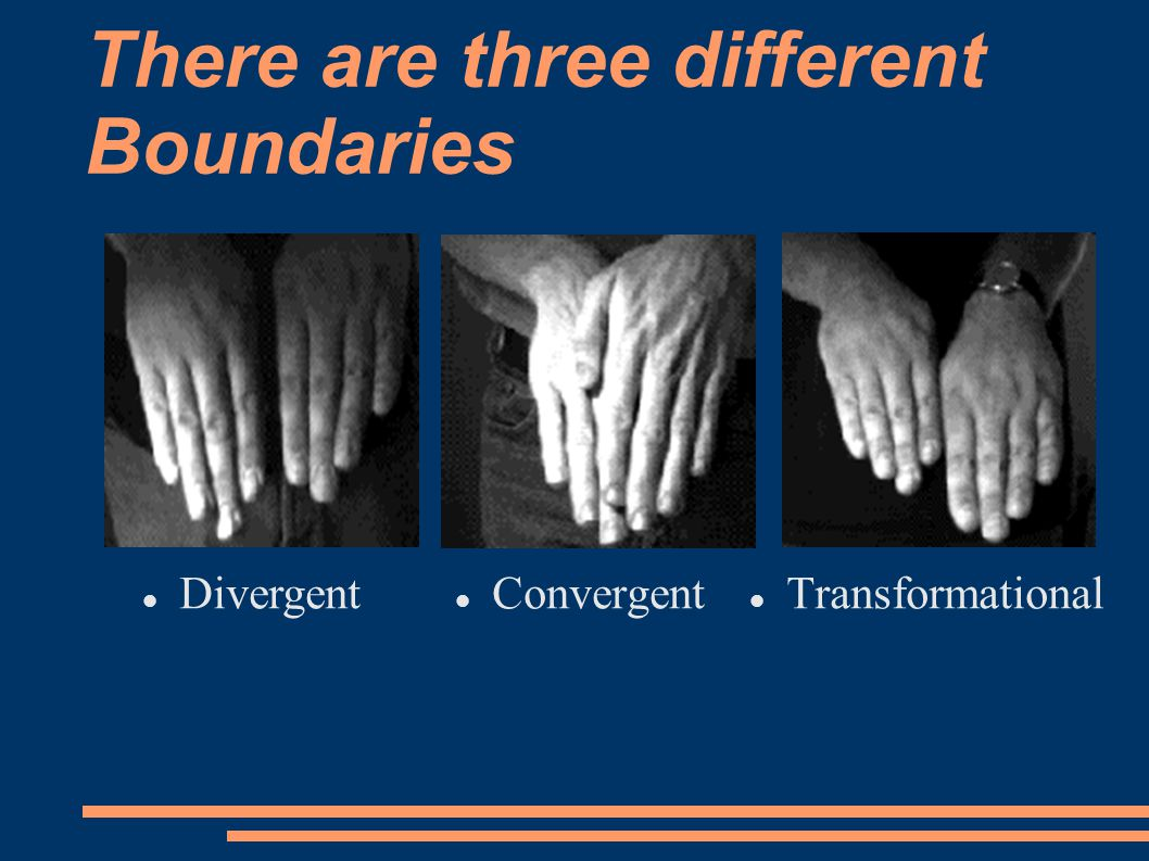 There are three different Boundaries Transformational Convergent Divergent