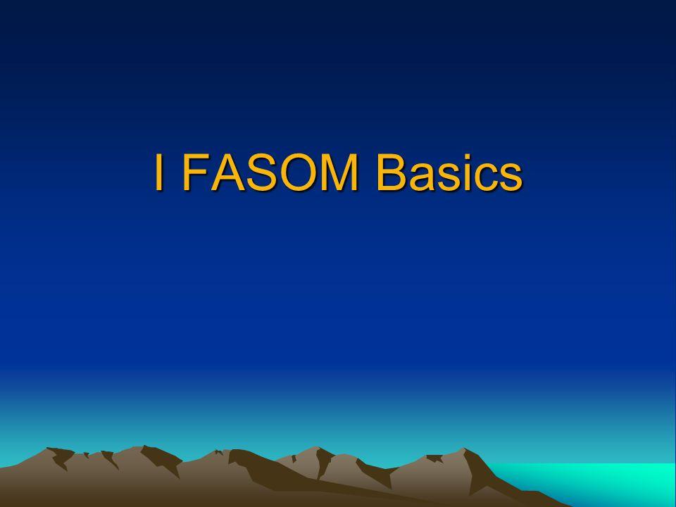 I FASOM Basics