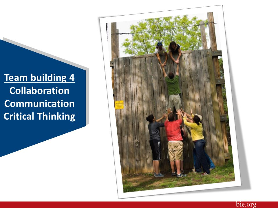 Team building 4 Collaboration Communication Critical Thinking