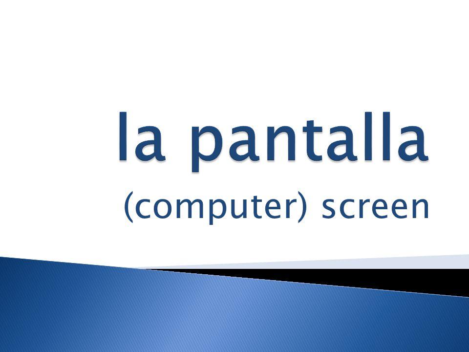 (computer) screen
