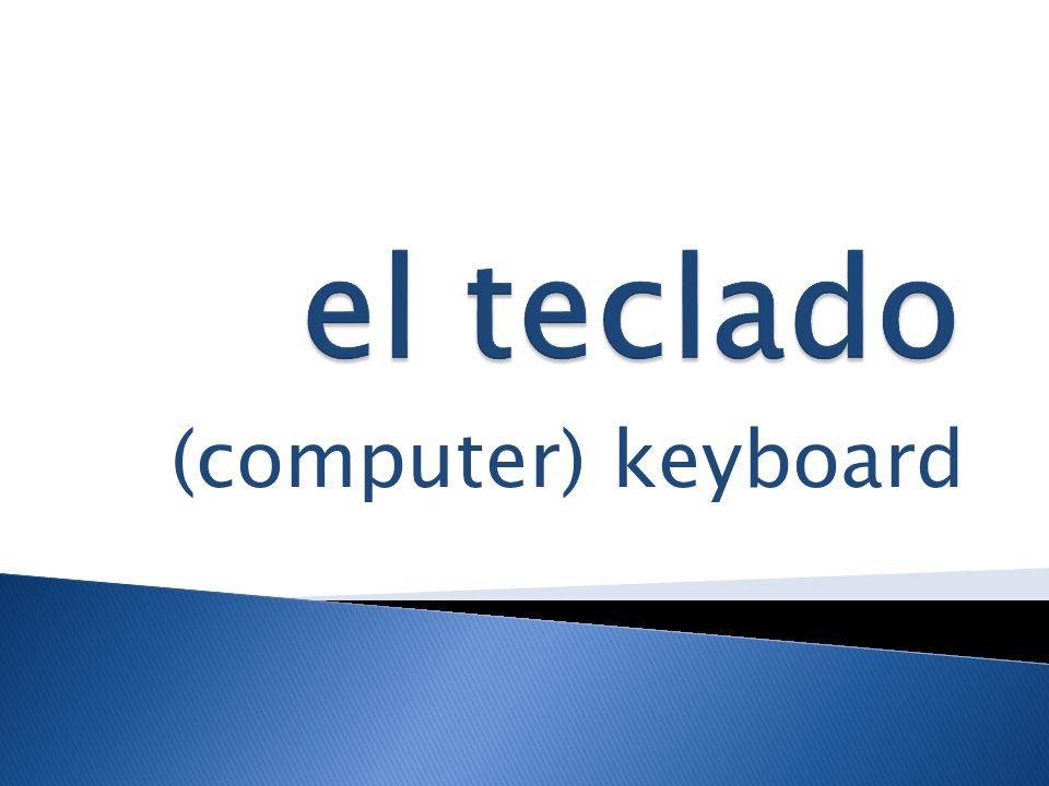 (computer) keyboard