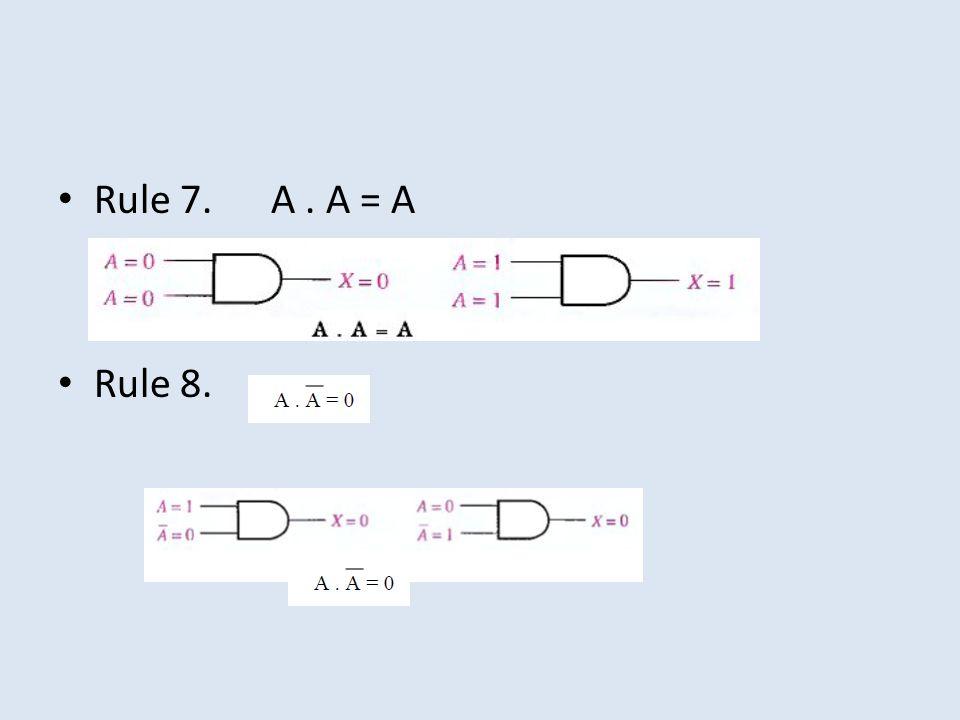 Rule 7. A. A = A Rule 8.