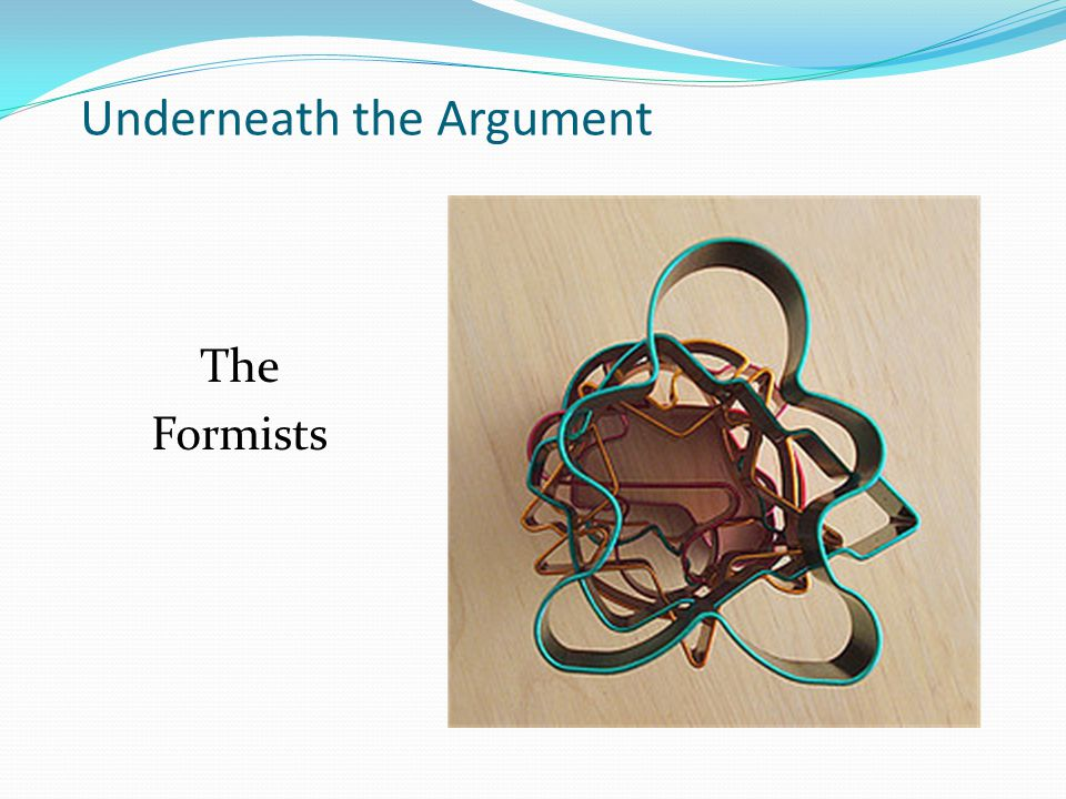 Underneath the Argument The Elemental Realist