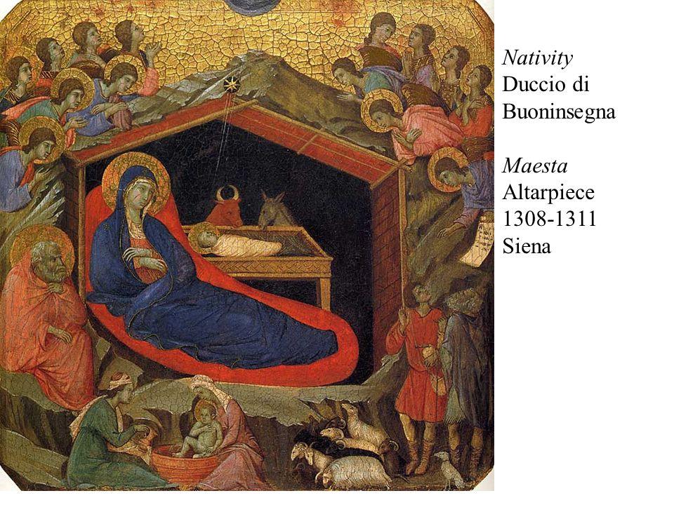 Nativity Duccio di Buoninsegna Maesta Altarpiece 1308-1311 Siena