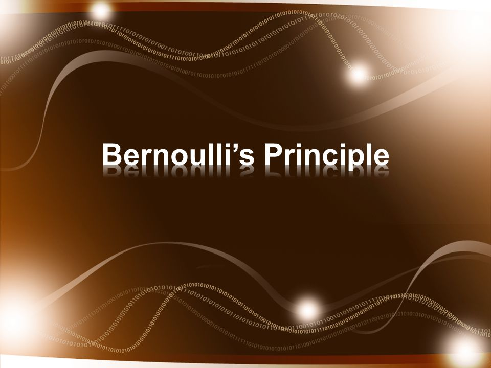 Daniel Bernoulli was a Swiss scientist (1700-1782) who analyzed the pressures involved with fluids.