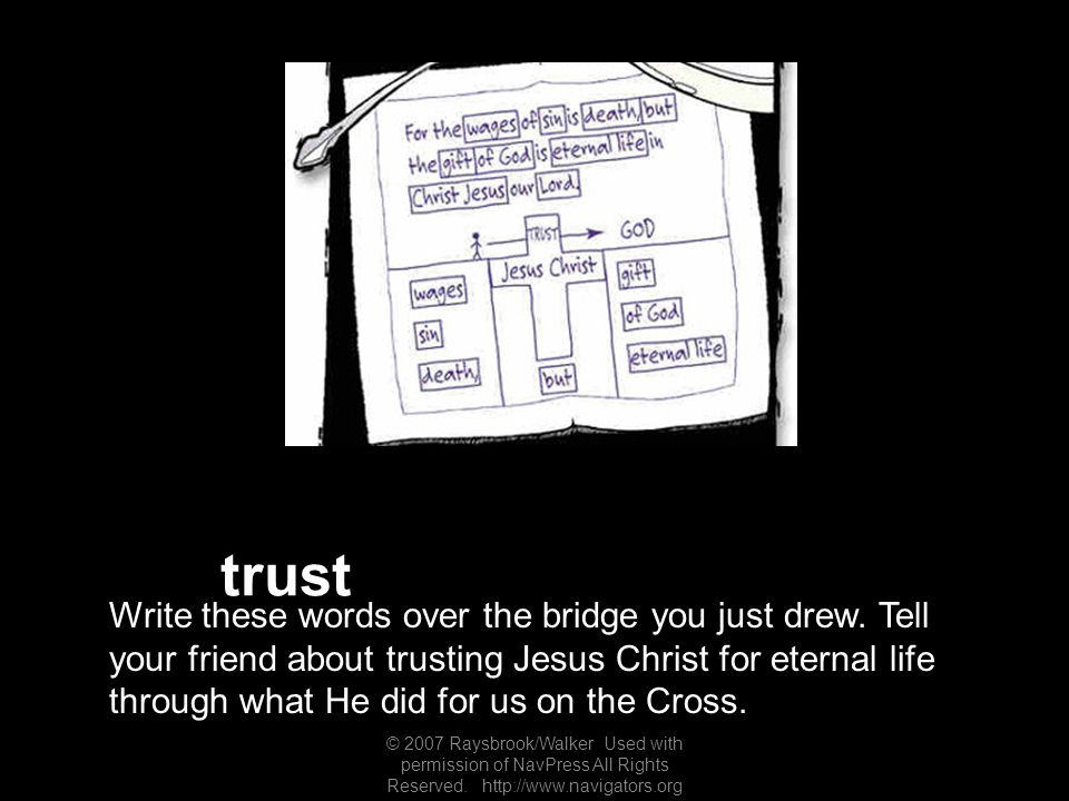 trust Write these words over the bridge you just drew.