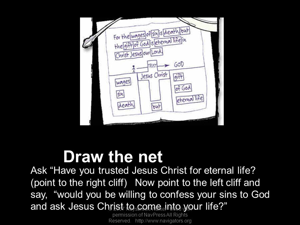 Draw the net Ask Have you trusted Jesus Christ for eternal life.