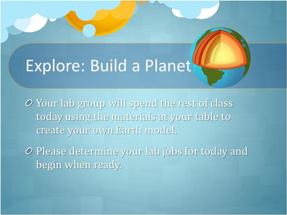 Explore: Build a Planet.