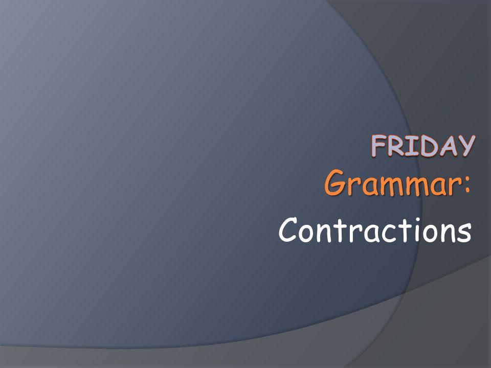 Grammar Grammar: Contractions