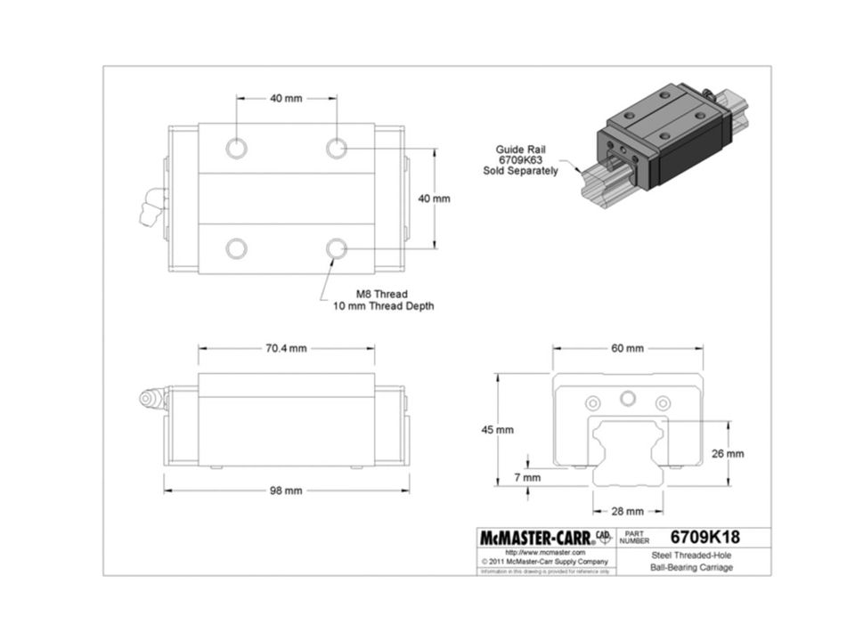 Note: To find this part at McMaster, select the rail part that is to the right of the ball bearing cartridge part.