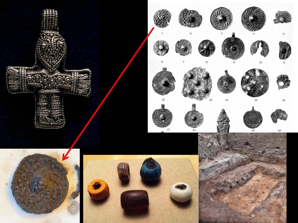 Shield amulet Silver filigree 10. C.