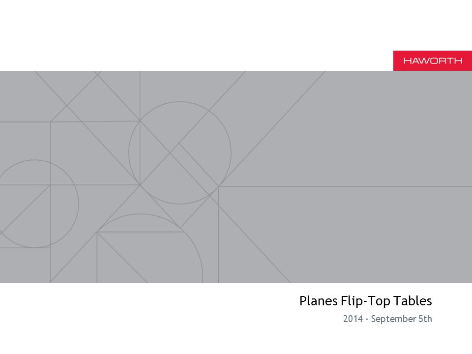 Planes Flip-Top Tables 2014 – September 5th