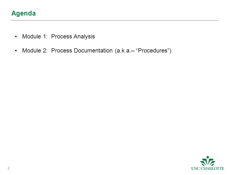 What should a procedure document look like.