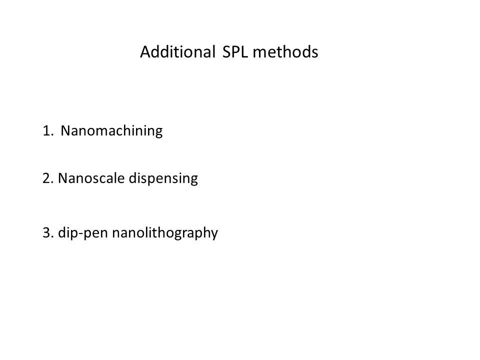Additional SPL methods 1.Nanomachining 2. Nanoscale dispensing 3. dip-pen nanolithography