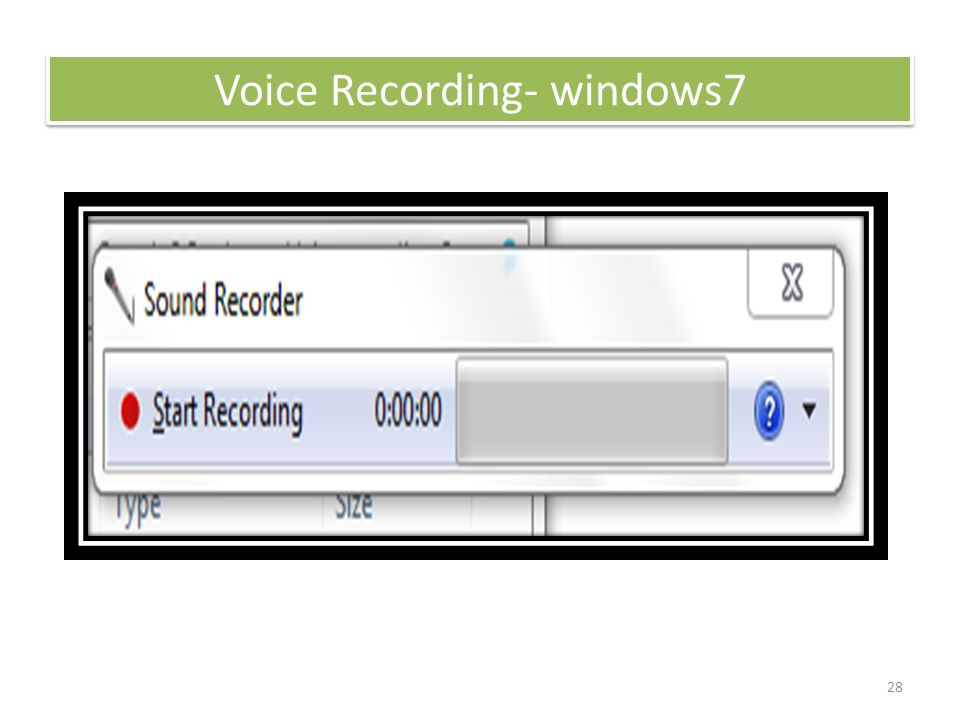 28 Voice Recording- windows7