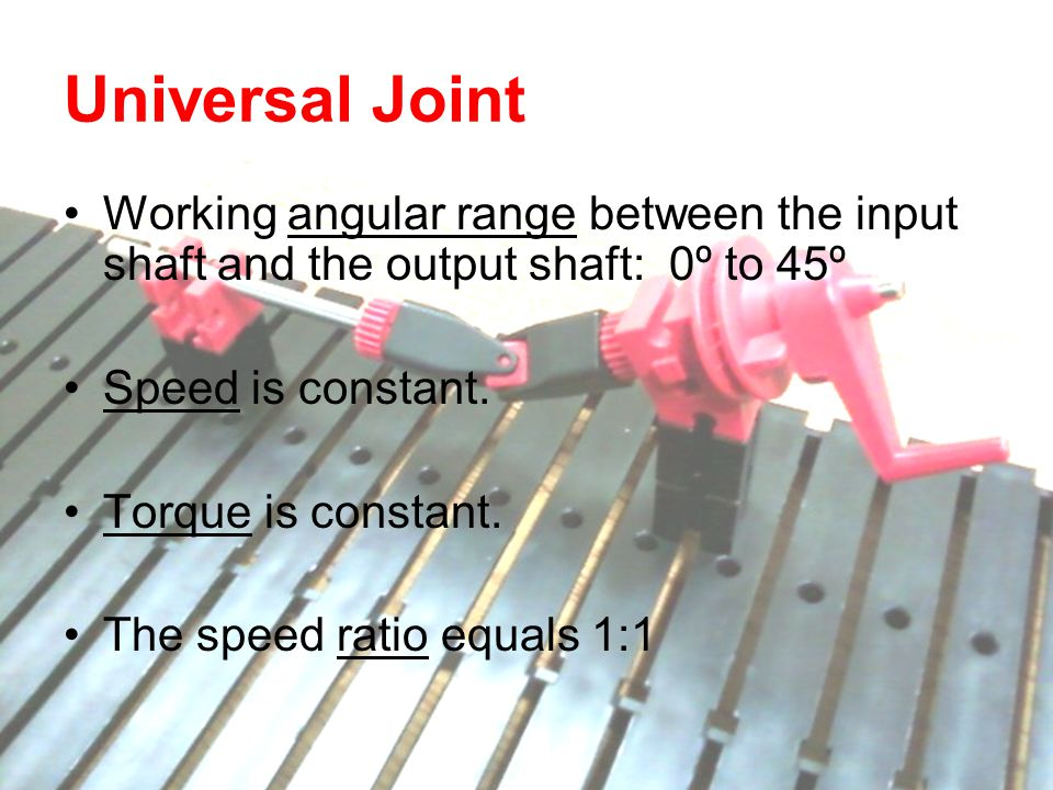 Mechanical Gears Rack and Pinion Lead Screw Pulley and Belt Cam and Follower Crank and Slider