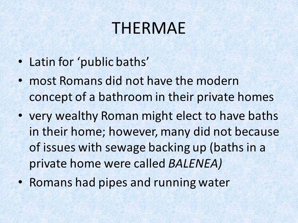 Frigidarium Cold Room Bathers took plunge in pool of unheated water to close pores.