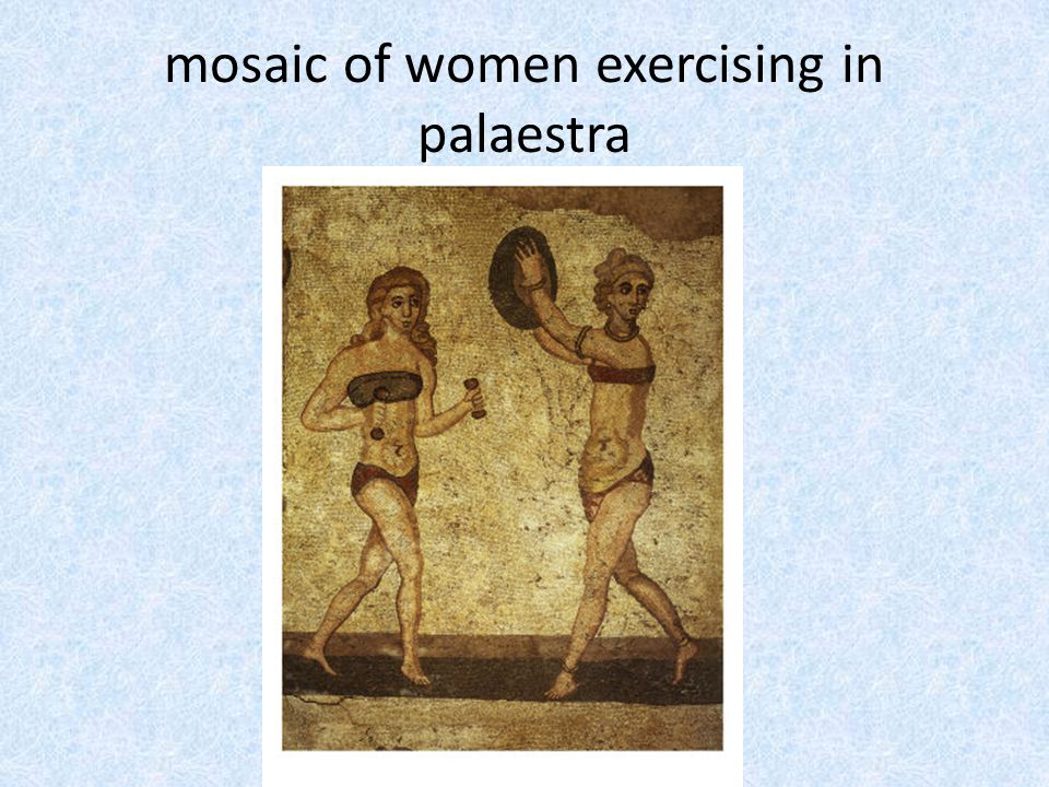 mosaic of women exercising in palaestra