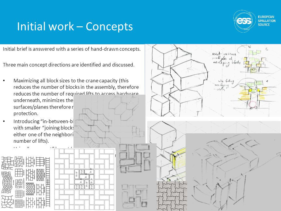 Initial work – Concepts 5 Initial brief is answered with a series of hand-drawn concepts.