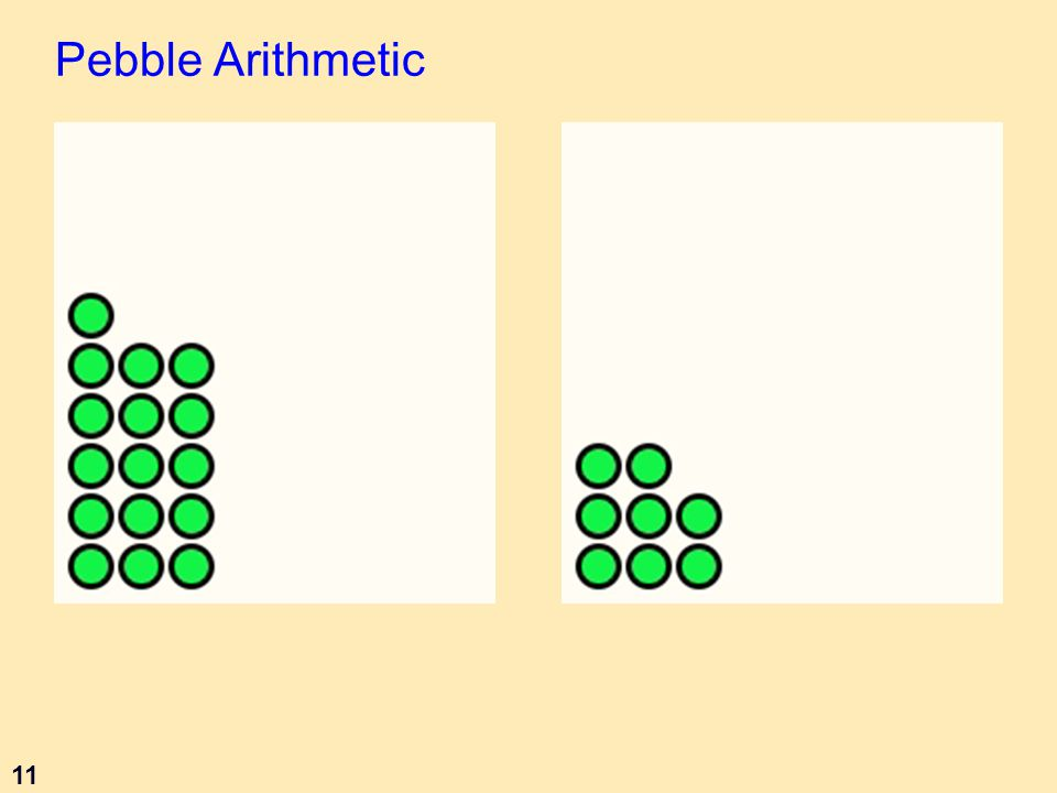 11 Pebble Arithmetic