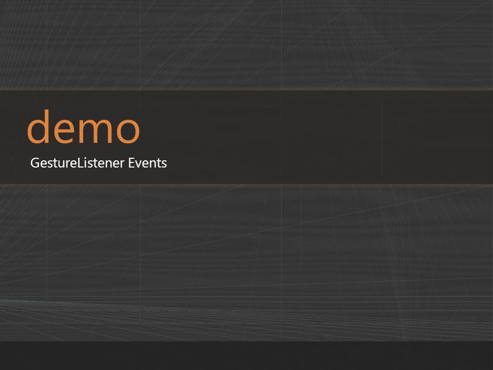 demo GestureListener Events