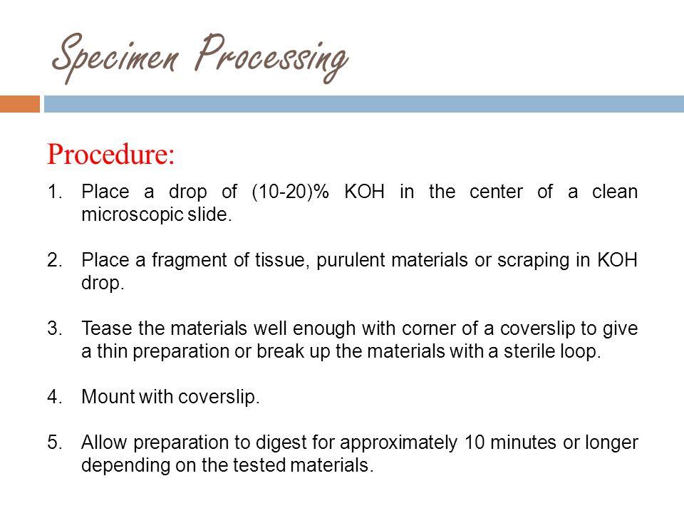 Procedure continue …..