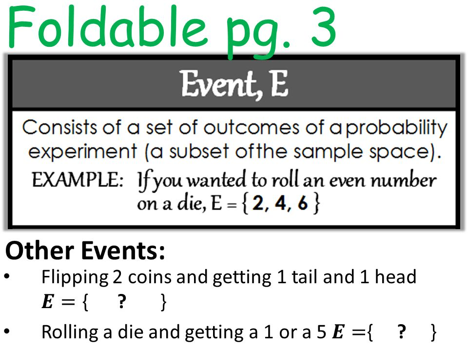 Other Events: Foldable pg. 3