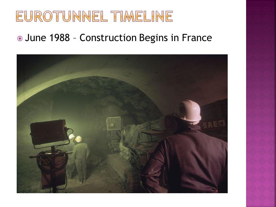  June 1988 – Construction Begins in France